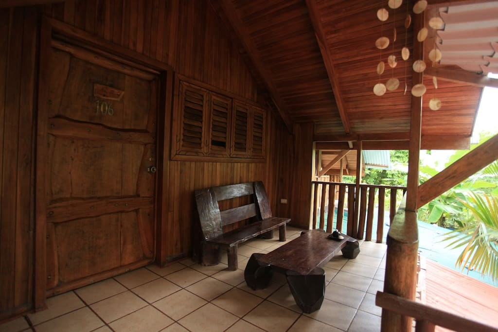 Porch outside of the room