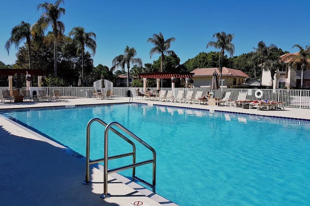 Lay out in the provided lawn chairs and catch some poolside sunrays by the complex's community pool!