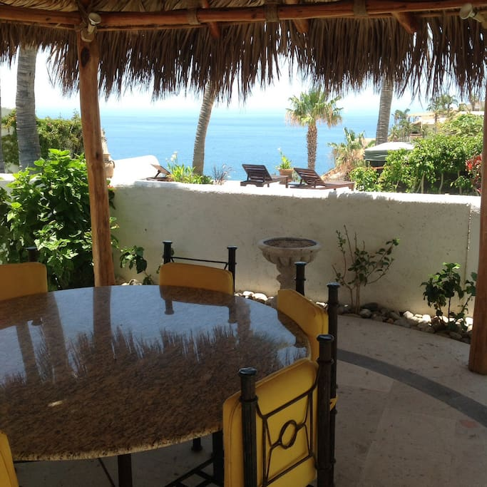 View of the Sea of Cortez from palapa.