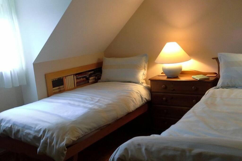 Twin room upstairs.