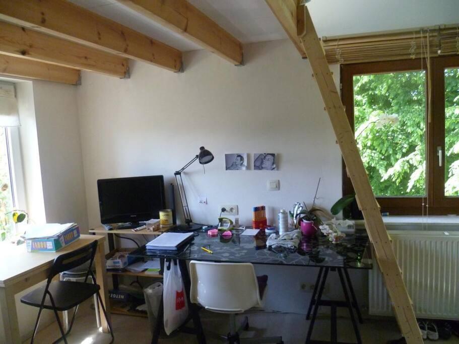 photo 2    studio dispon  en  été  (  de  fin  juin à  fin  aout  ) entrée indép.,douche , kitch. et wc privés