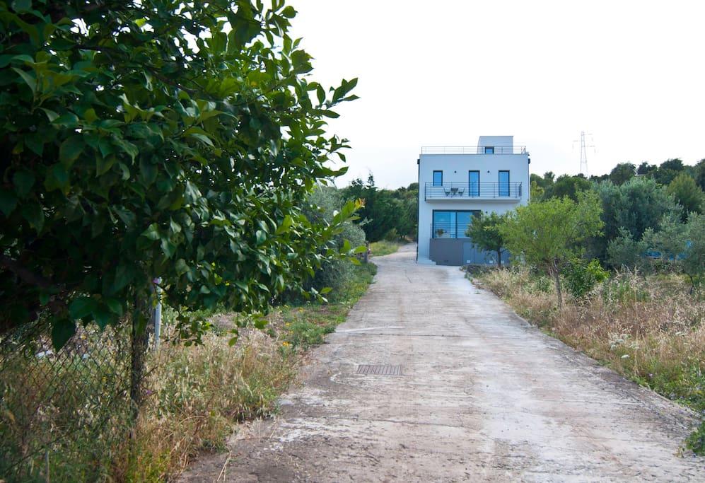 Villa Oltremare, vista frontale