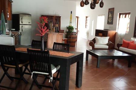 At walking distance from the beach and Cabarete centre, in the most caratteristic street of Cabarete! One Bedroom apartment with big dinig room loft style.
