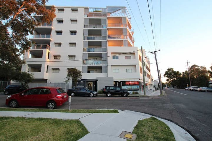 Single space right next to Merrylands station