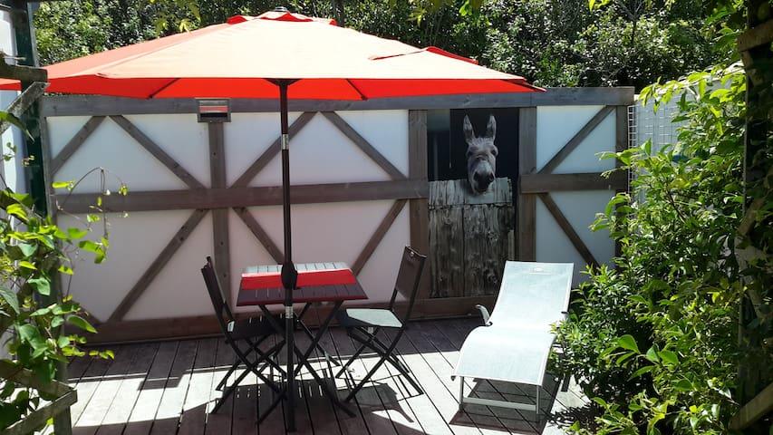 Coquet deux pièces avec terrasse.