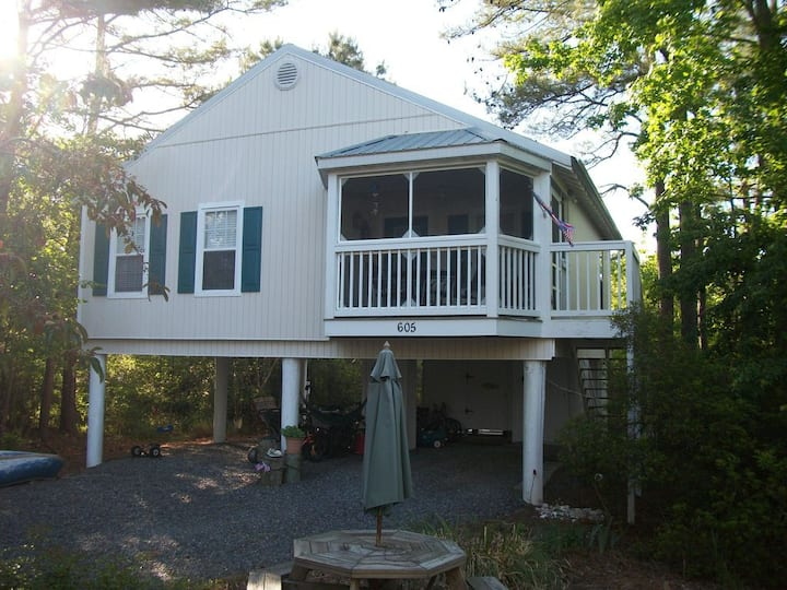 Quiet secluded Bethany Beach house