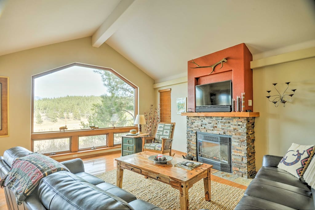 You'll have unobstructed views of Pagosa Peak from the large windows in the living room!