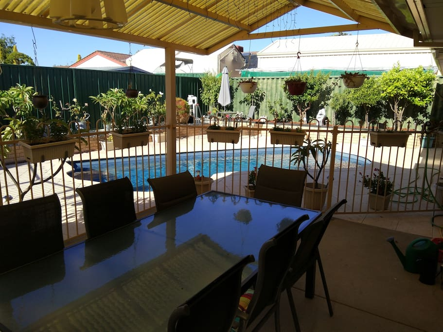 Great open outdoor entertainment area where BBQ's are a plenty, along with many International cuisines.