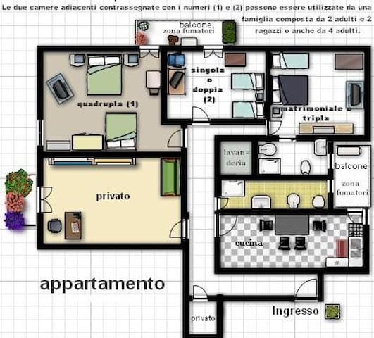 Apartment for 4/5/6/7/8 people - Caserta - Flat
