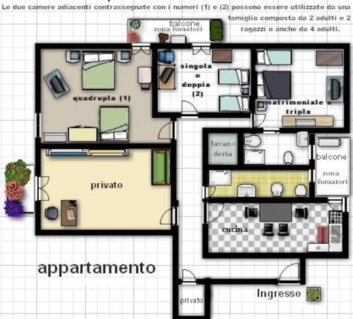 Apartment for 4/5/6/7/8 people