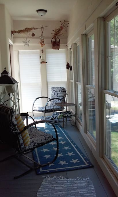You will really enjoy sitting on the sunporch.