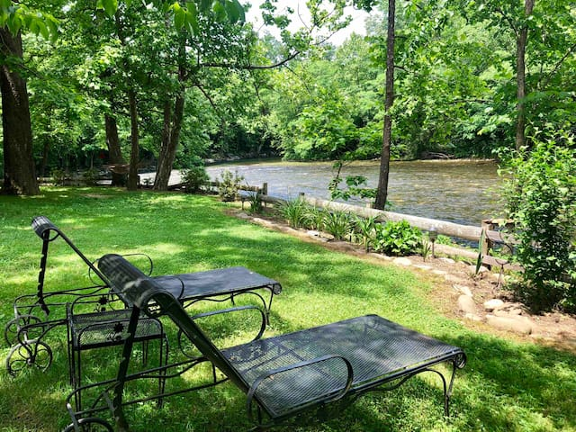 Rustic Riverside Relaxation