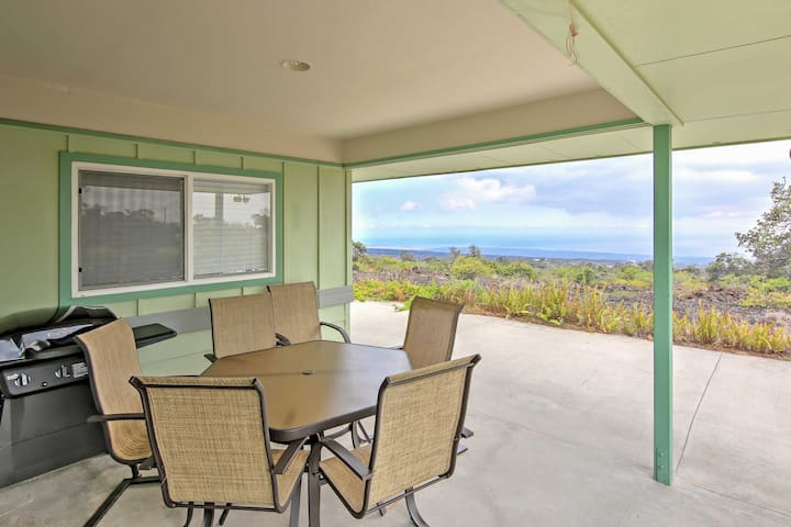 Ocean View House w/Lanai, 7 Mi from South Point!