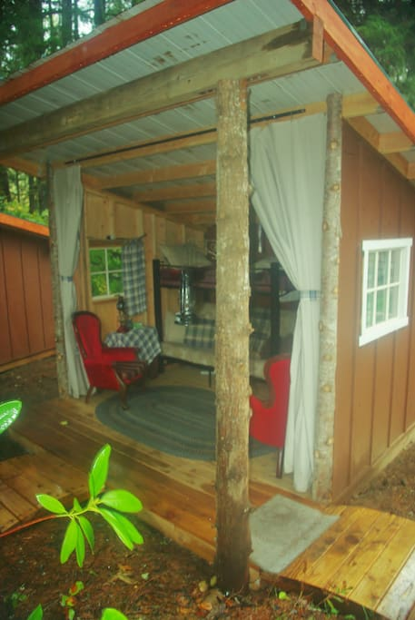 outdoor bungalow's are also available, sleep 3