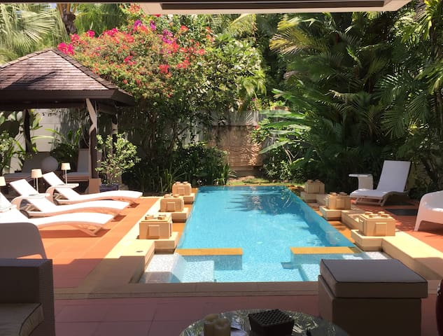 Luxury villa front Layan beach private pool