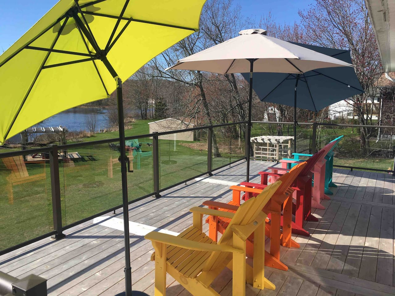 Enjoy the patio on a summer day overlooking the lake! ❤️