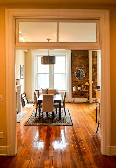 Entryway into the dining area.