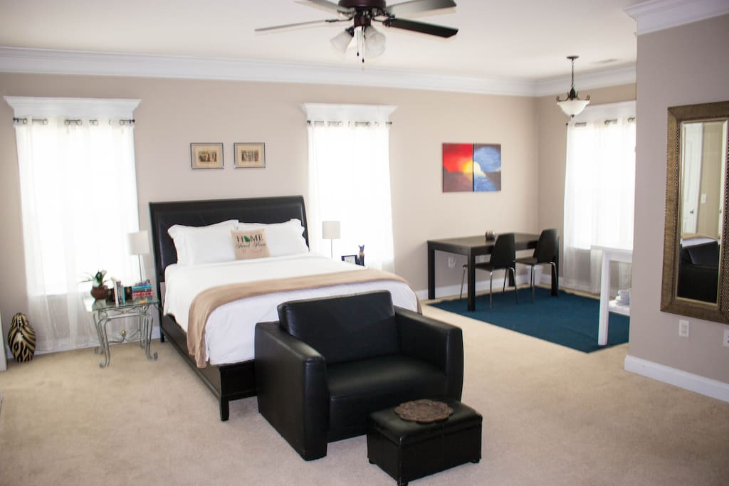 The master suite living space