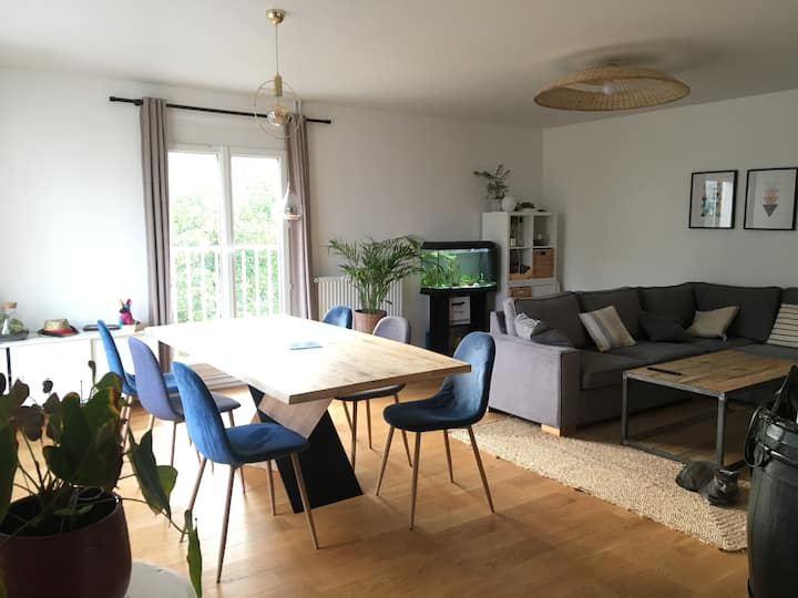 Chambre individuelle grand appartement