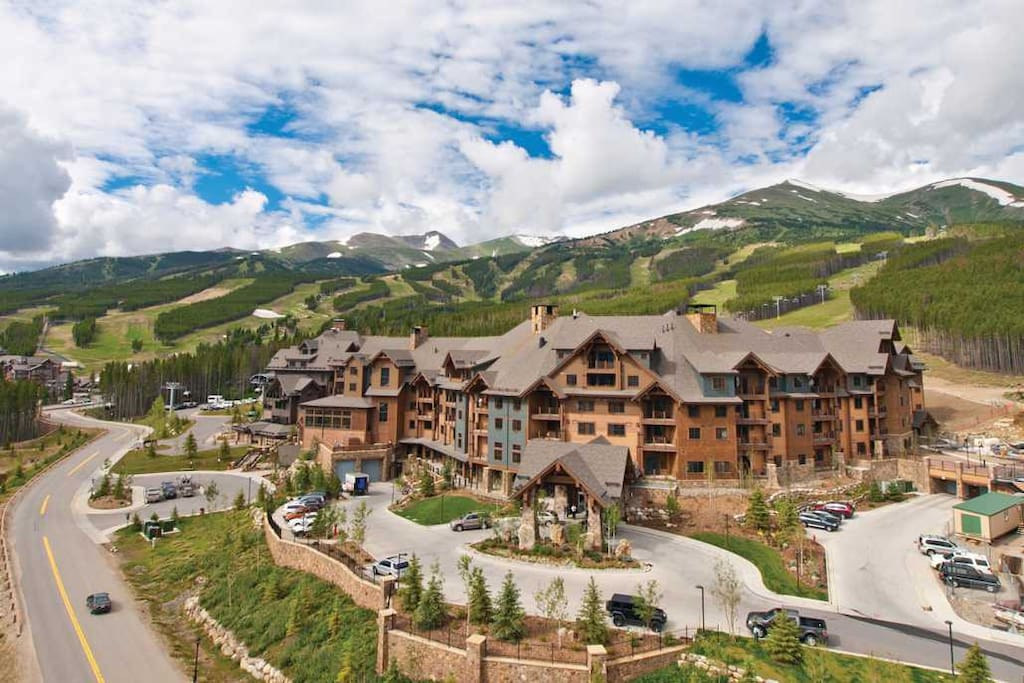 Ski-in/ski-out mountainside resort