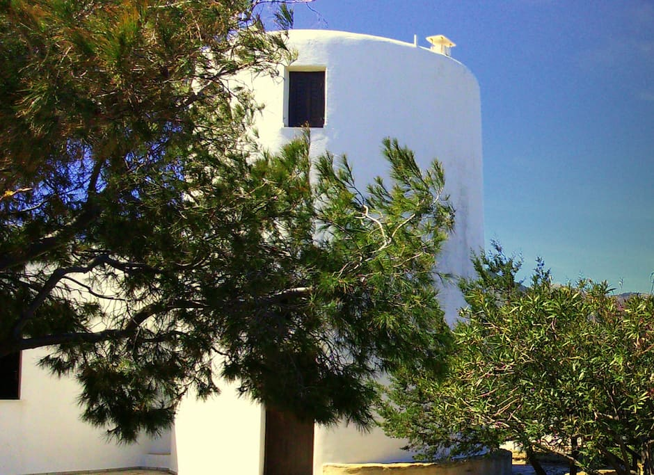 Traditional windmill in 3 flours. Enjoy wonderful views 360o of Paros, Naxos, Syros, Folegandros, Serifos and Sikinos.