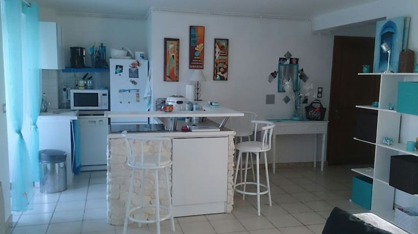 2-rooms flat with private garden - Biéville-Beuville - Apartament