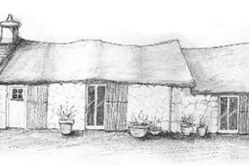 one of Christine's sketches of the Cwtsh