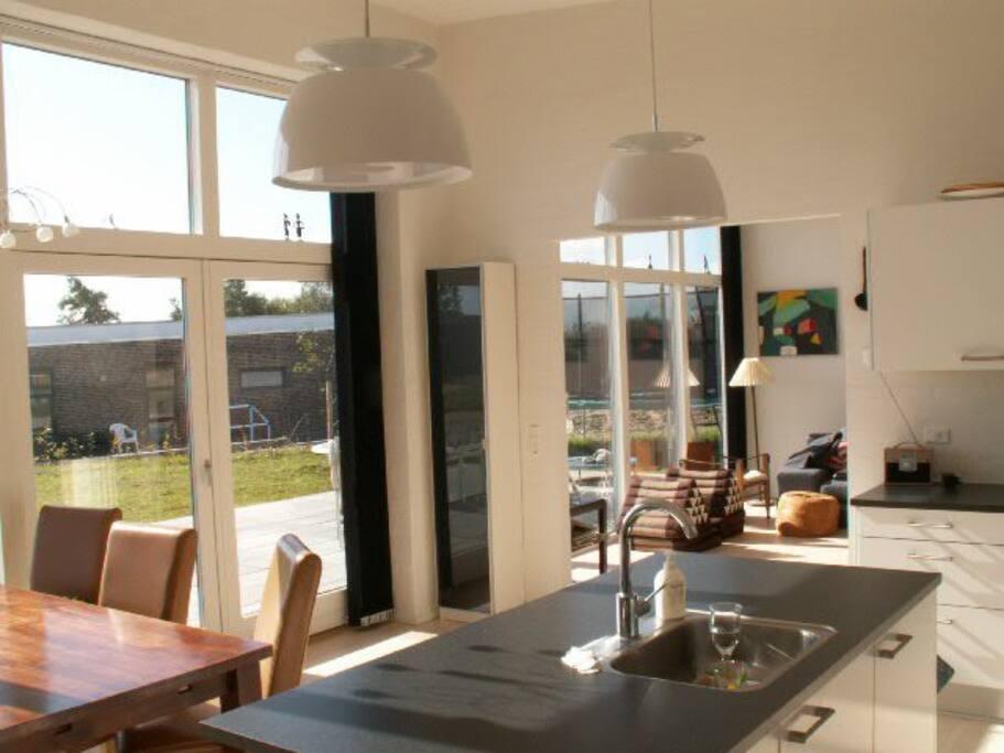 l kkert moderne hus med sk n udsigt h user zur miete in sk dstrup d nemark. Black Bedroom Furniture Sets. Home Design Ideas
