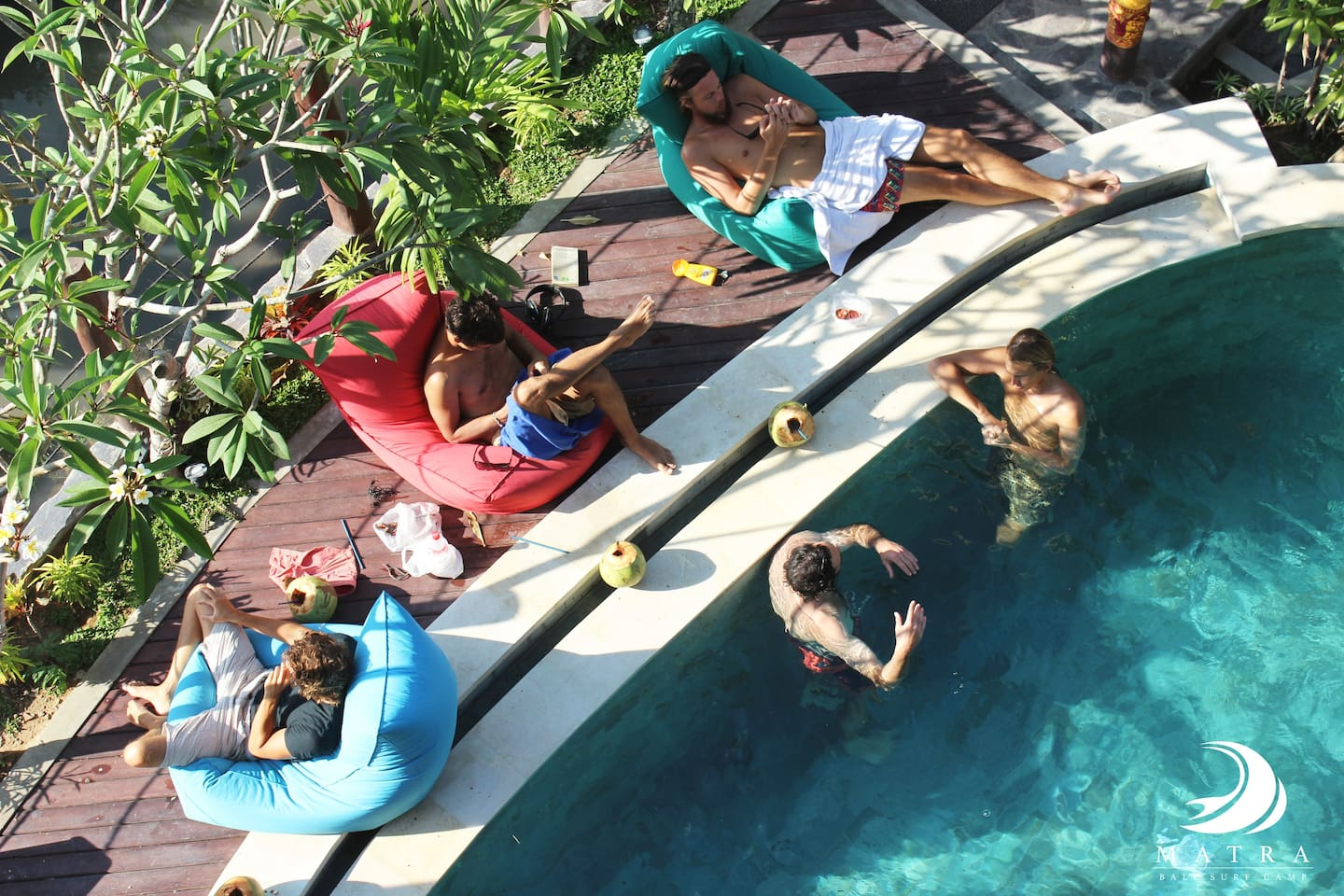 The pool is a great spot to hang out, meet new friends or enjoy the high speed wi-fi connection