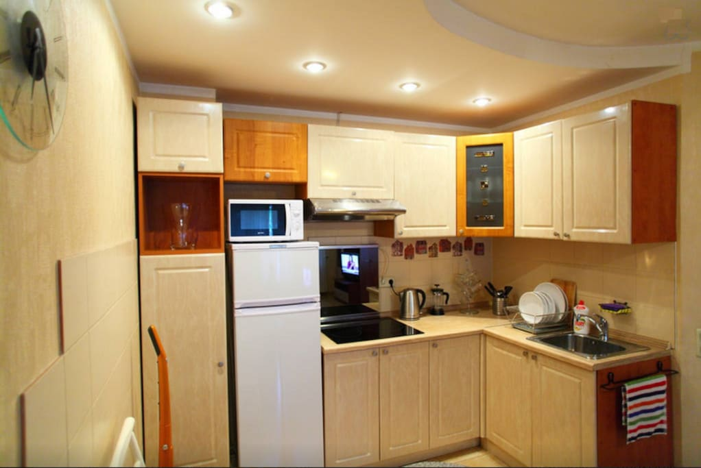 Kitchen with all necessary for cooking