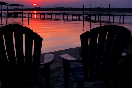 SUNSET ROOM: Waterfront PRIVATE SUITE & BATH - Pensacola - Hus