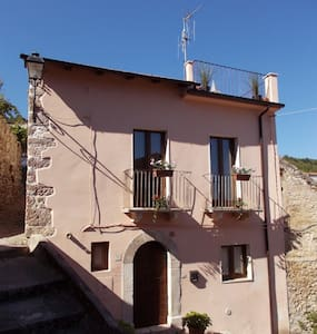 Casa Rosa - Detached, roof terrace, garden, WiFi - ブニャーラ