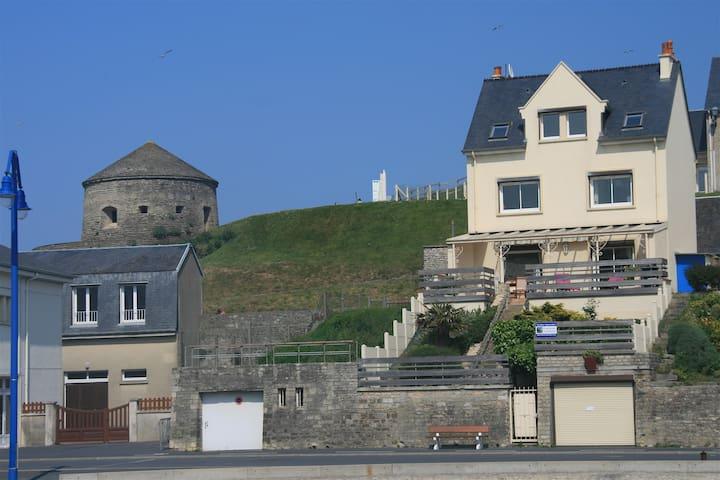 Maison Grande Terrasse Vue Port - Port-en-Bessin-Huppain - House