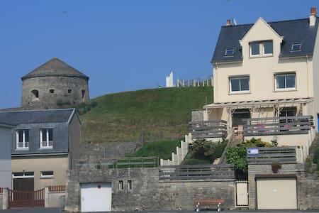 Maison Grande Terrasse Vue Port - Port-en-Bessin-Huppain