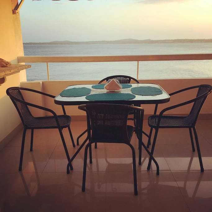 Comedor con vista al mar!
