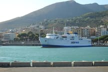 Harbour to the island of ventotene and ponza (location of formia)