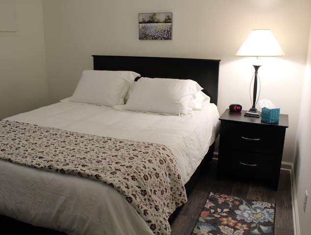Queen Memory Foam bed in each bedroom