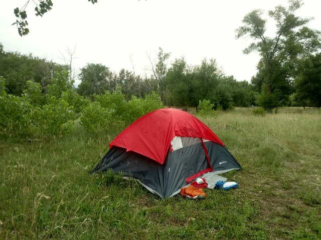 Space  for your own tent, pad & bag