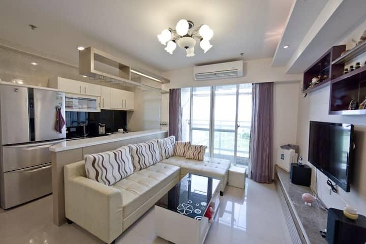 景觀屋2-4人包層-2間雙人房+客廳(2人-一間雙人房+客廳)