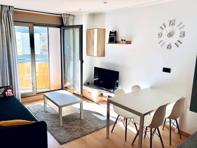 Acogedor apartamento en Playa Silgar - Sanxenxo