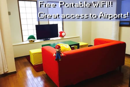 Super Mario Apt in Central Akihabara!5mins WIFI - Taito