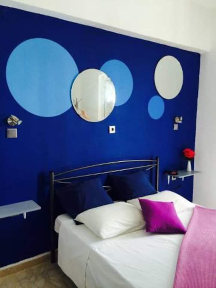 Blue Double Room - Rhodes- Karmik Hotel