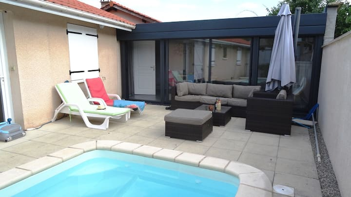 St just chaleyssin - maison - piscine