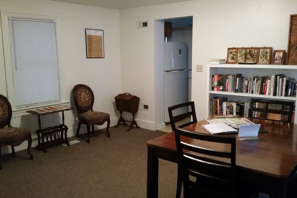 Dining Room with books and games