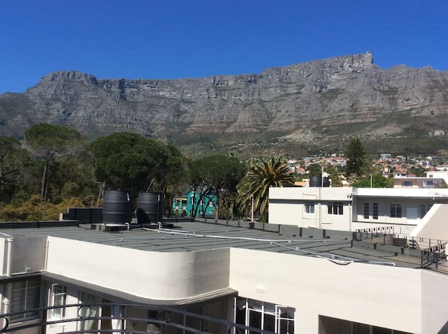 Penthouse Studio with Table Mountain view.