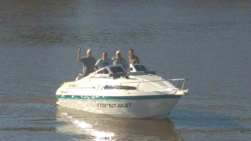 Happy skipper and crew.