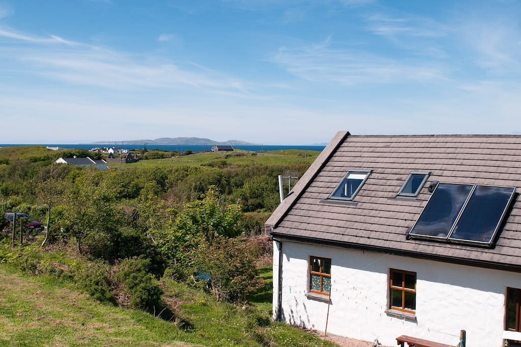 Good sea views from the house . Views of Clare island and inishturk