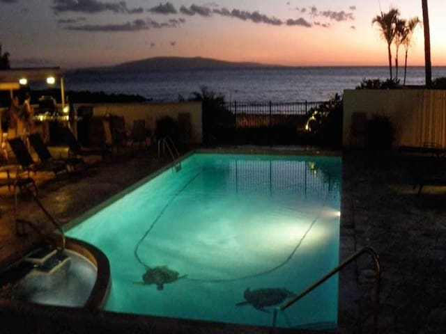 Sunset View of the Pool
