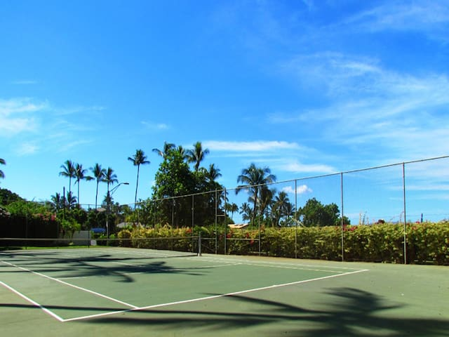 Tennis Court with Ocean View