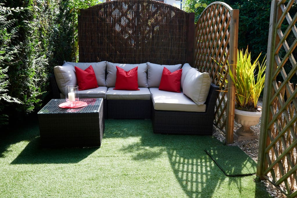 The Sudio Garden. Sit and lie back any time of day in the summer sun or the moonlit sky...